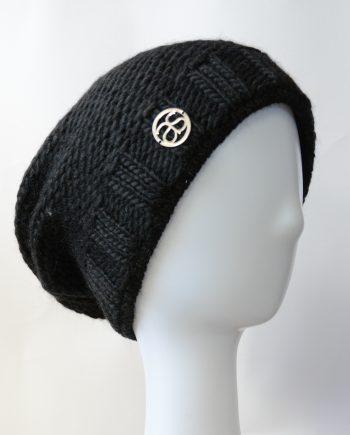 Alyssa Schwarz VAL D'ISÈRE schwarz Wollstrick Mütze