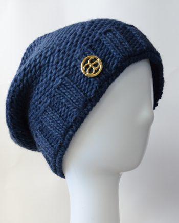 Alyssa Schwarz VAL D'ISÈRE blau Wollstrick Mütze
